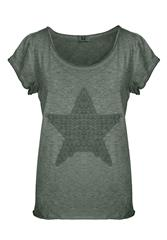 MADE IN ITALY OLIVE STAR TEE
