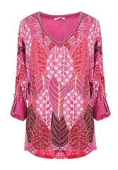 MADE IN ITALY PINK MULTI PRINT TOP