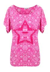 MADE IN ITALY PINK MULTI PAISLEY PRINT TOP