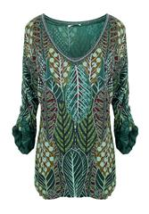 MADE IN ITALY GREEN MULTI COLOUR TOP