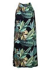 MADE IN ITALY GREEN MULTI COLOUR HALTER NECK DRESS