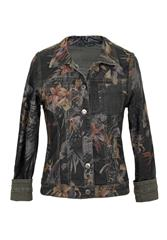 MADE IN ITALY GREEN FLORAL PRINT REVERSIBLE  JACKET