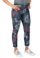 MADE IN ITALY MULTI COLOUR  PATCH DETAIL REVERSIBLE JEANS