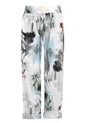 MADE IN ITALY WHITE MULTI PRINT TROUSERS
