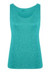 MADE IN ITALY TURQUOISE TOP