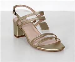 FROGGIE GOLD MULTI BLOCK HEEL - 11877