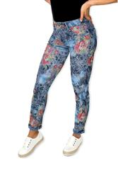 MADE IN ITALY MULTI COLOUR ROSE REVERSIBLE JEANS