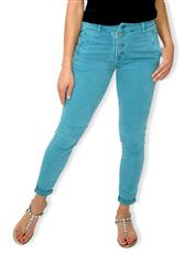 MADE IN ITALY MULTI BUTTON TEAL COLOUR JEANS
