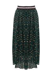 MADE IN ITALY GREEN LEOPARD PRINT SKIRT