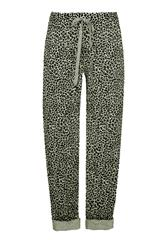 MADE IN ITALY GREEN LEOPARD PRINT TROUSERS