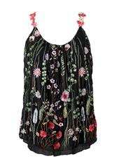 MADE IN ITALY BLACK MULTI FLORAL CAMI