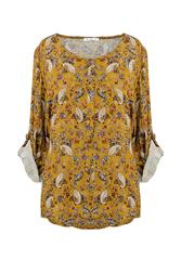 MADE IN ITALY MUSTARD PAISLEY PRINT BLOUSE