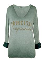 MADE IN ITALY GREEN PRINCESSE LONG SLEEVE TOP
