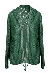 MADE IN ITALY GREEN LACE JACKET