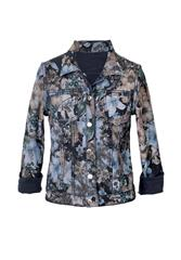 MADE IN ITALY INK FLORAL REVERSIBLE JACKET
