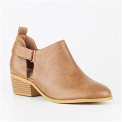 BUTTERFLY FEET TAN CAPRICORN BLOCK HEEL BOOT