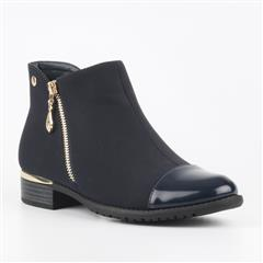 MISS BLACK HADAR NAVY ANKLE BOOTS