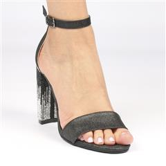 MISS BLACK ZAMA BLACK HIGH HEEL SANDAL