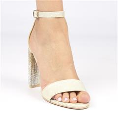 MISS BLACK ZAMA GOLD HIGH HEEL SANDAL