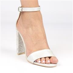 MISS BLACK ZAMA SILVER HIGH HEEL SANDAL