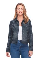 FRENCH DRESSING JEANS NAVY BUFFALO CHECK JACKET