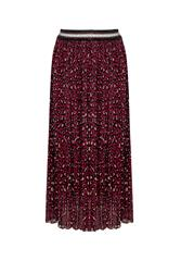 MADE IN ITALY MAROON LEOPARD PRINT SKIRT