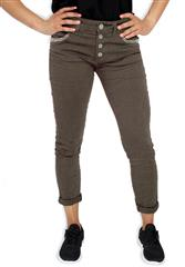 MADE IN ITALY MAUVE SEQUENCE DETAIL JEANS
