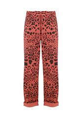 MADE IN ITALY BROWN MULTI LEOPARD PRINT TROUSERS