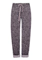 MADE IN ITALY PURPLE LEOPARD PRINT TROUSERS