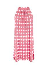 MADE IN ITALY PINK WHITE POLKA DOT DRESS