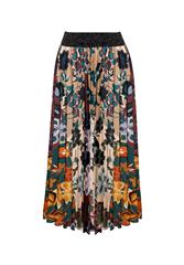 MADE IN ITALY MULTI COLOUR PLEATED SKIRT