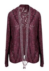 MADE IN ITALY MAROON LACE JACKET