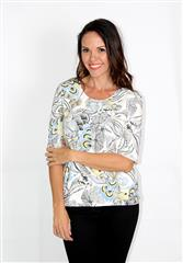 GERRY WEBER OFF WHITE PRINT TOP