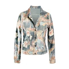 MADE IN ITALY REVERSIBLE ARMY GREEN PRINT JACKET