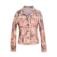MADE IN ITALY DIRTY PINK FLORAL REVERSIBLE JACKET