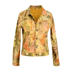 MADE IN ITALY MUSTARD FLORAL REVERSIBLE JACKET