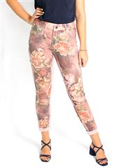 MADE IN ITALY PINK FLORAL REVERSIBLE JEANS
