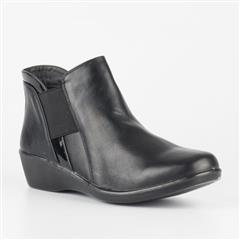 BUTTERFLY FEET BLACK ARIES ANKLE BOOT