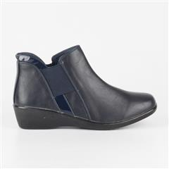 BUTTERFLY FEET NAVY ARIES ANKLE BOOT