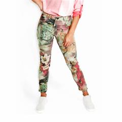 MADE IN ITALY GREEN BLOSSOM REVERSIBLE JEANS