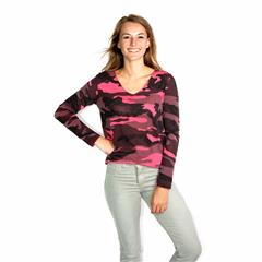 MADE IN ITALY PINK CAMO TOP