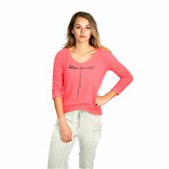 MADE IN ITALY CORAL DRAGONFLY TOP