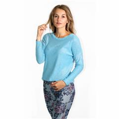 MADE IN ITALY SKY FULL GLITTER KNIT TOP