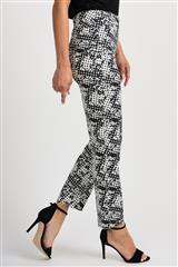 JOSEPH RIBKOFF BLACK WHITE PANTS