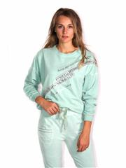 MADE IN ITALY LONG SLEEVE MINT TOP