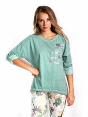 MADE IN ITALY GREEN SILVER DETAIL TOP