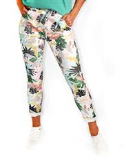 MADE IN ITALY TROPICAL PASTEL PANTS