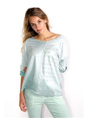 MADE IN ITALY LIME METALLIC SHEEN TOP