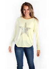 MADE IN ITALY YELLOW STAR SEQUINS TOP