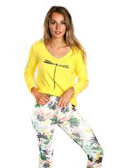MADE IN ITALY YELLOW DRAGONFLY TOP